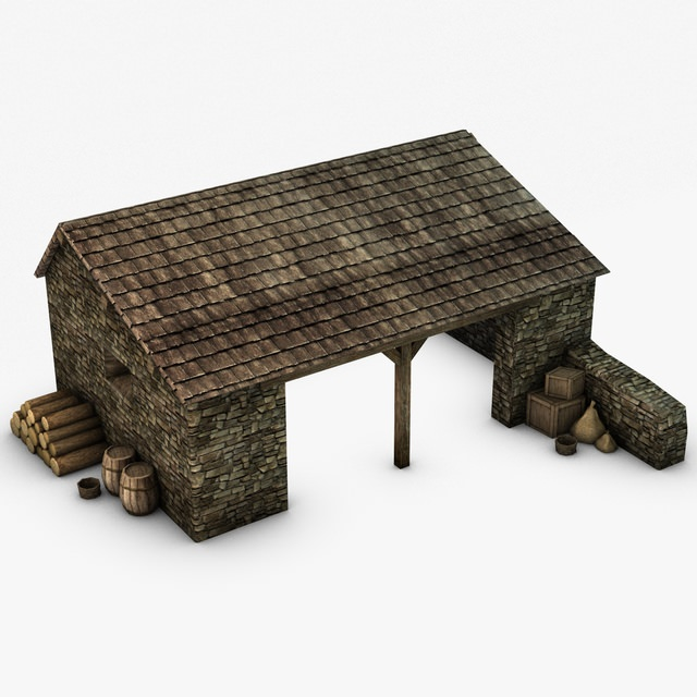 Farm stable with props