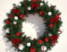 3D model Christmas wreath