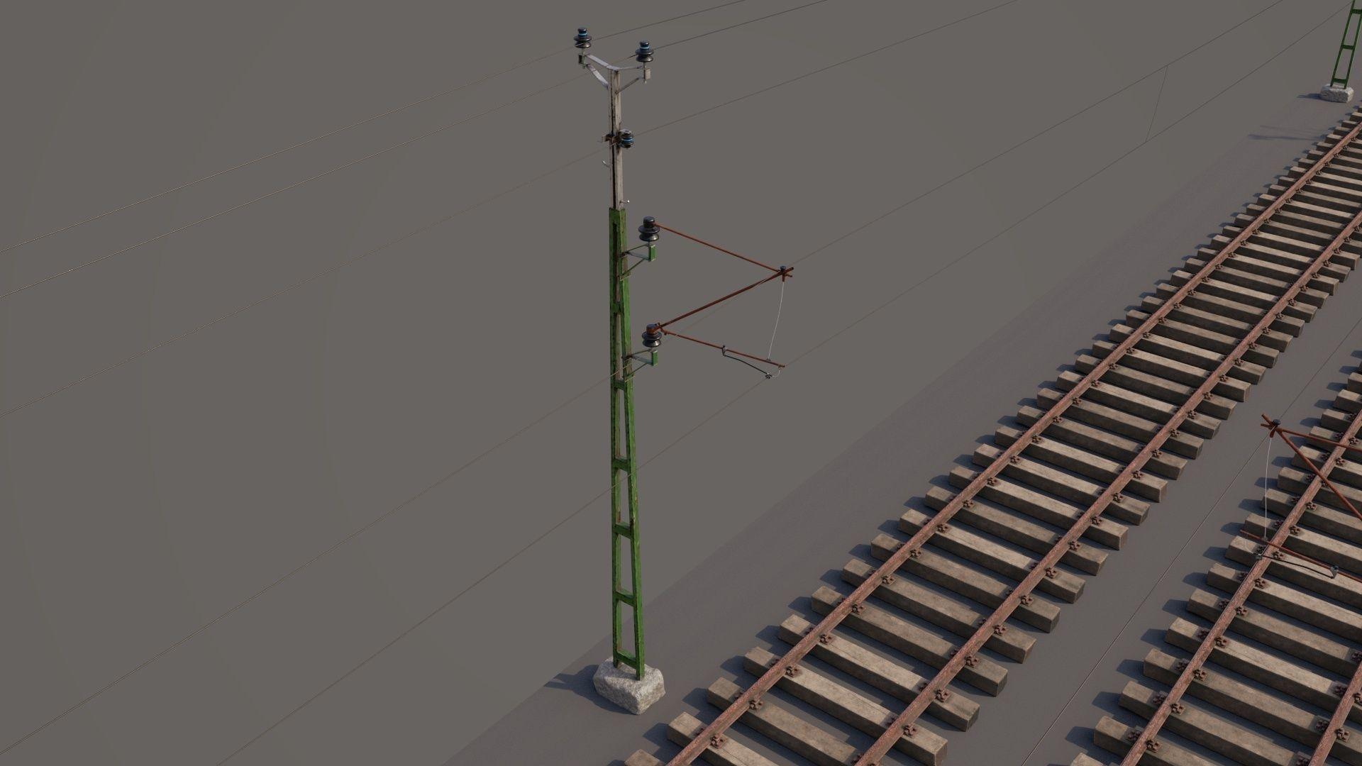 railway and overhead lines