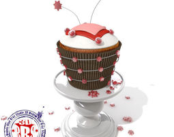 stars and hearts cupcake 3d model obj 3ds c4d dae