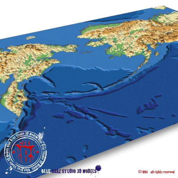 Bering strait elevation map 3d model cgtrader bering strait elevation map 3d model 3ds c4d 3 gumiabroncs Images
