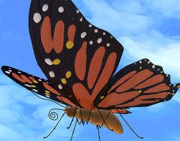 3D model butterfly cartoon