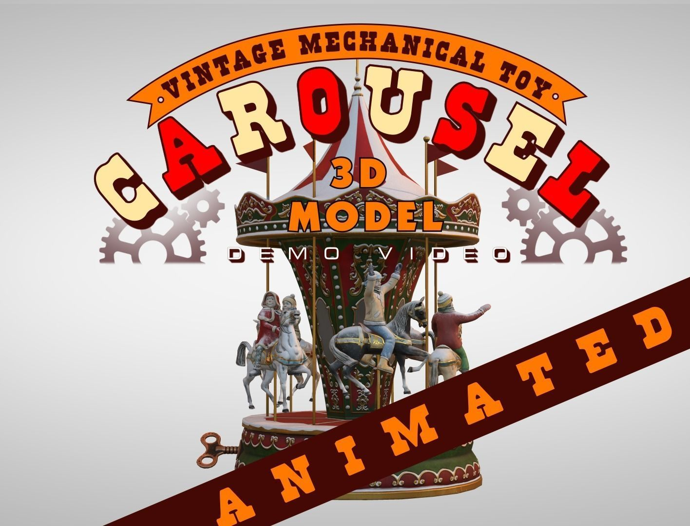 Carousel Vintage Mechanical Toy
