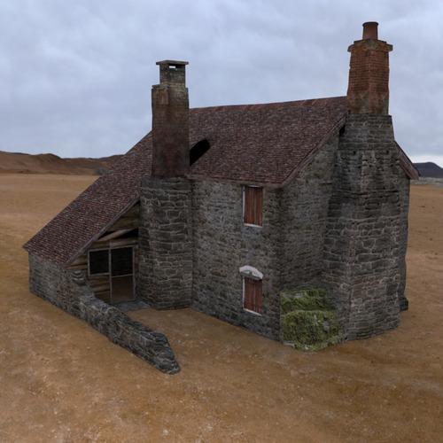 Derelict cottage 3d model