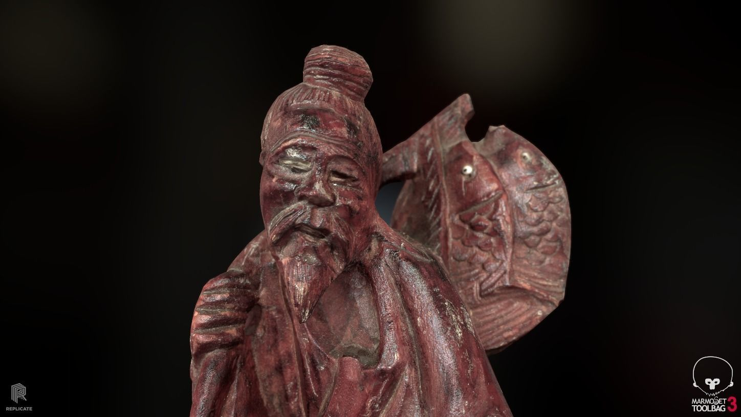 Props - Artwork - Chinese Statue 02 -