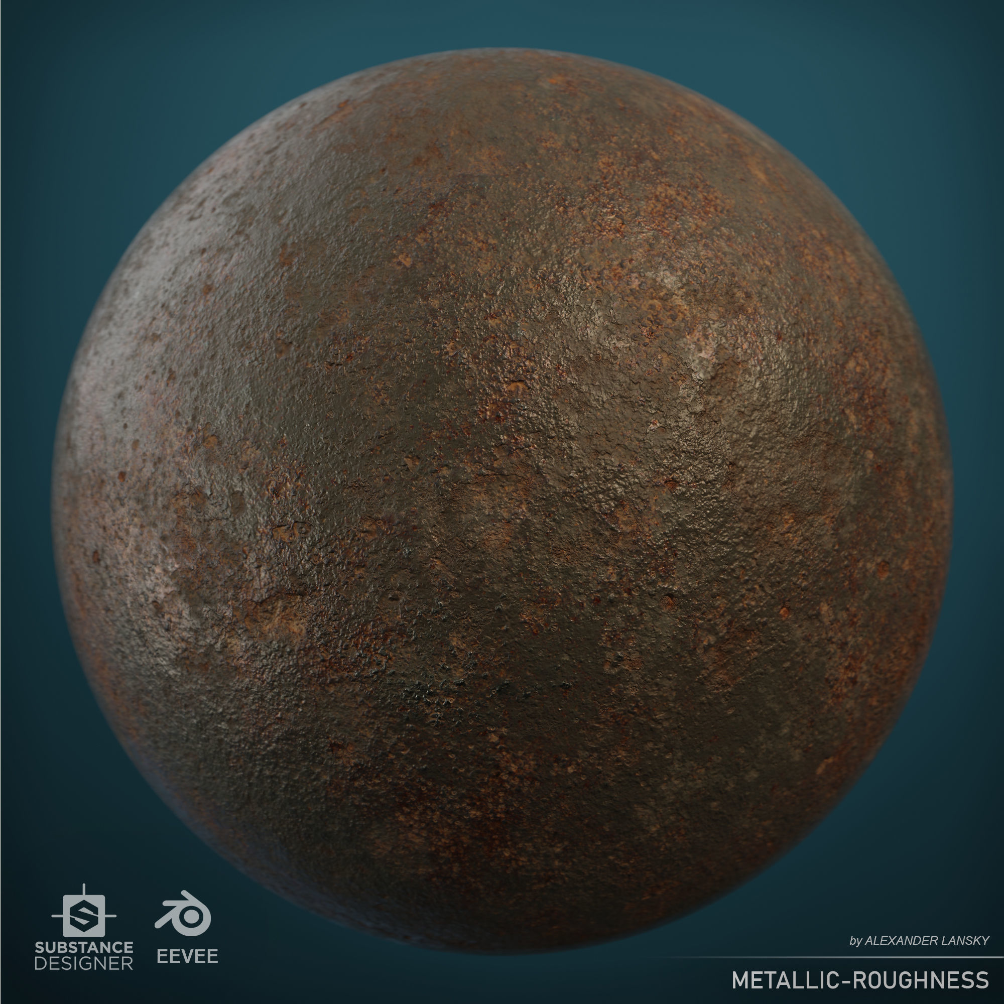 Rusted cast-iron seamless material