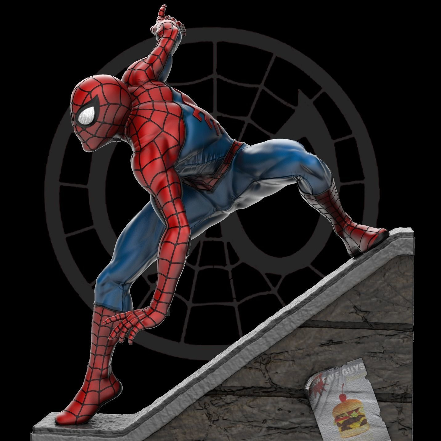Spider-Man Statue 3D Print Ready