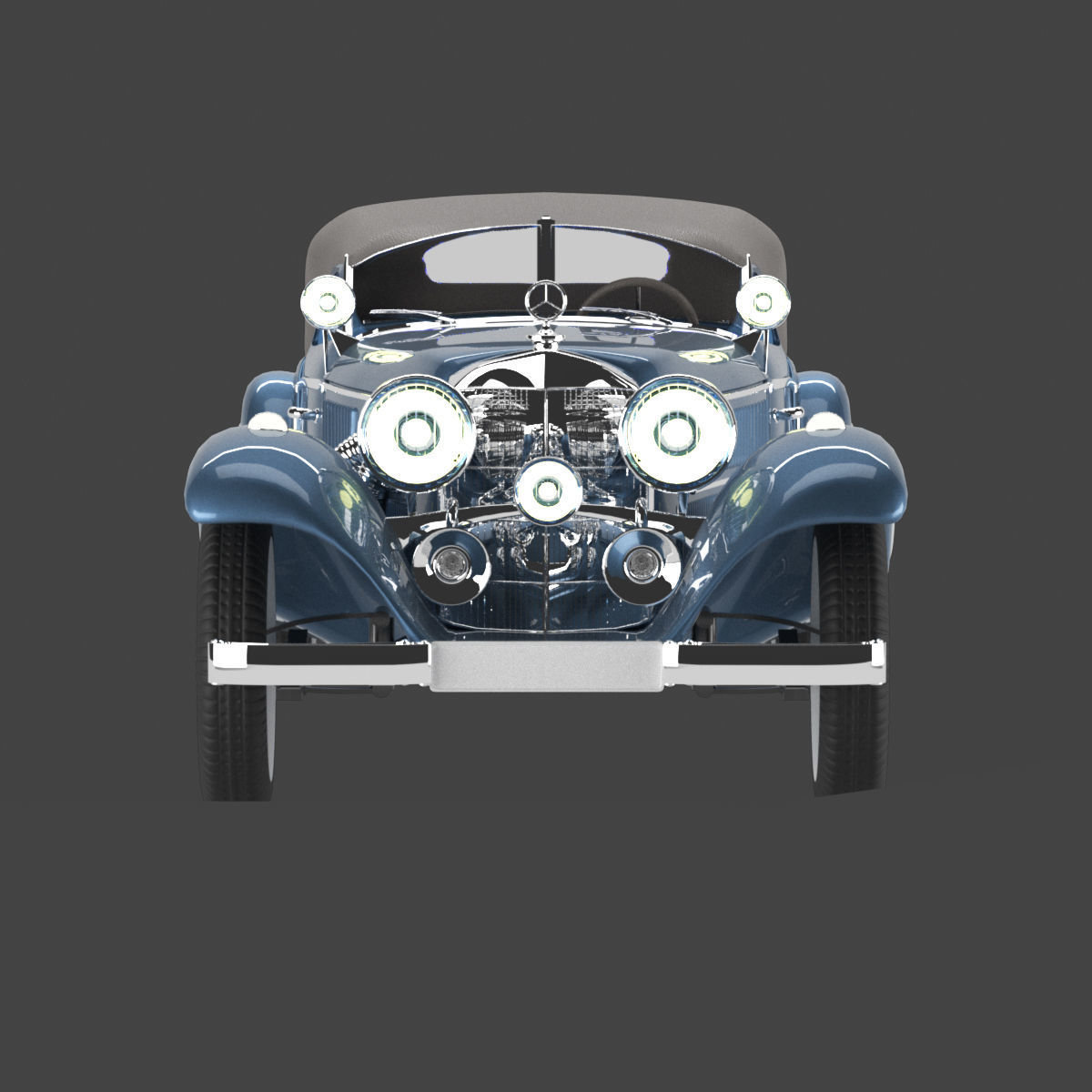 Mersedes 1938 540k blueprint V 01 with closed top