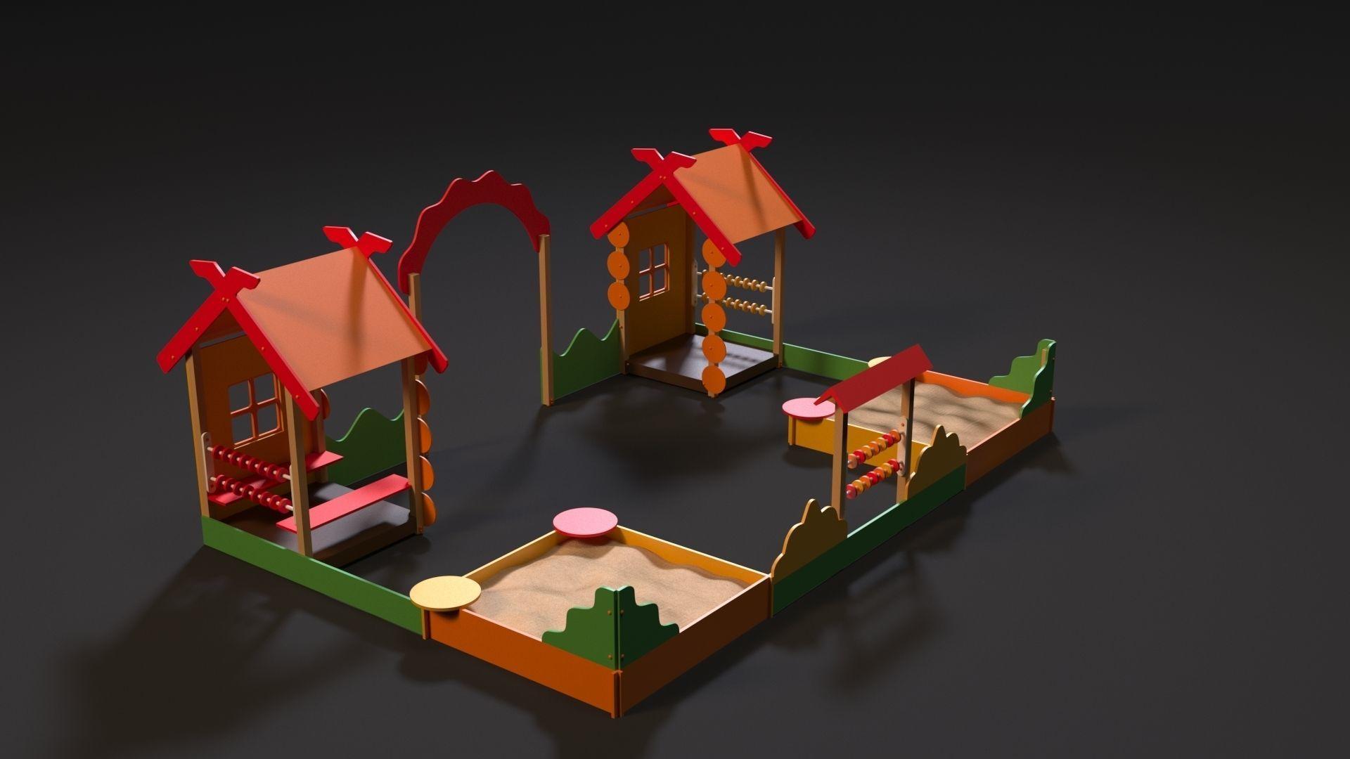 Playground sand patio