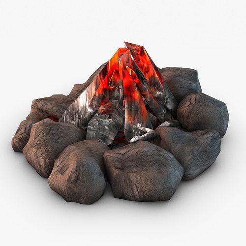 bonfire 3d model max obj 3ds fbx c4d 1