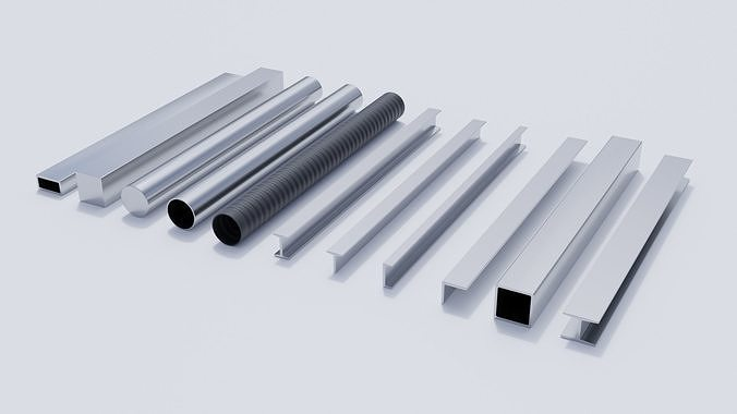 Steel Beams and Pipes Collection