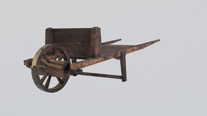Medieval cart Gameready