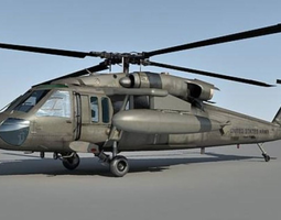 UH-60 Blackhawk Helicopter 3D