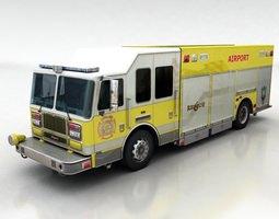 firetruck 2 3d model low-poly max