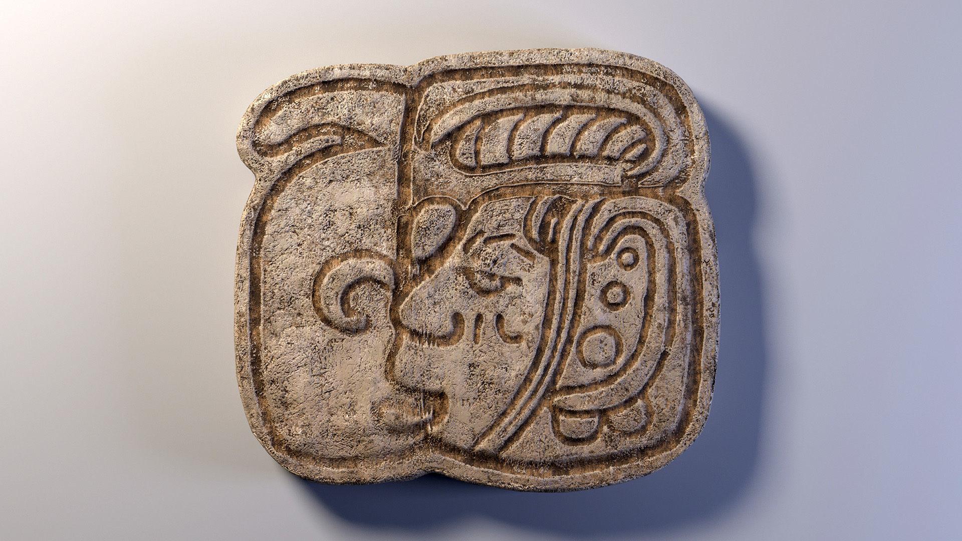 Mayan Symbol PBR Lowpoly