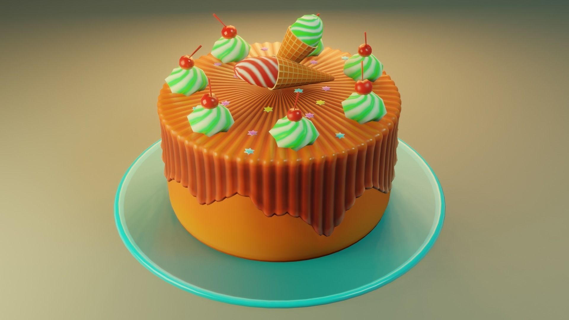 Cake  gradient