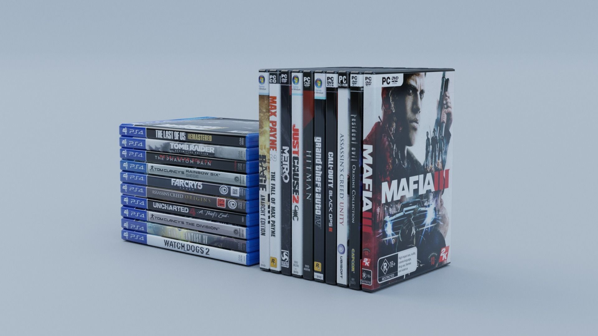 Vol3 DVD Pack of 20 PC PS4 Popular Games