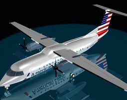 3D American Airlines dash 8-300