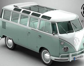 3D Volkswagen Type 2 Samba 1963