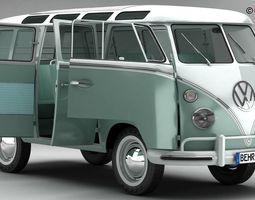 Volkswagen Type 2 Samba 1963 3D Model