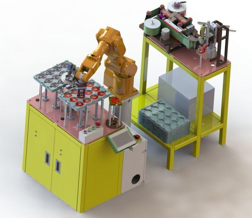 PCB board bracket automatic assembly machine