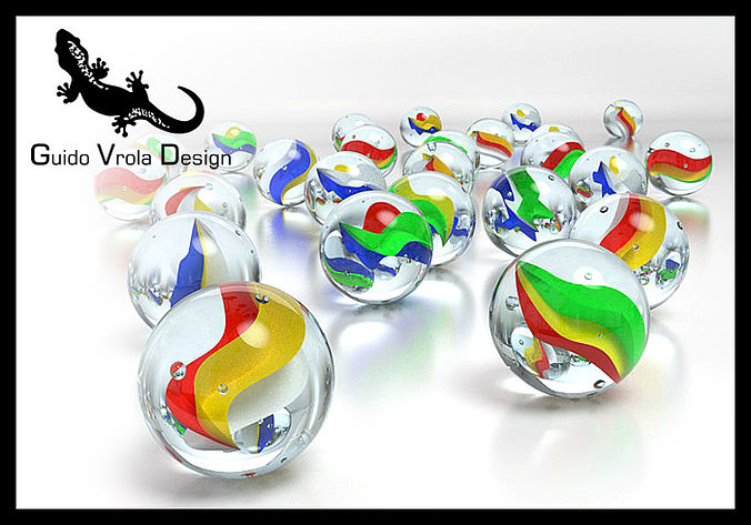 marbles 3d model obj 3ds fbx blend mtl 1