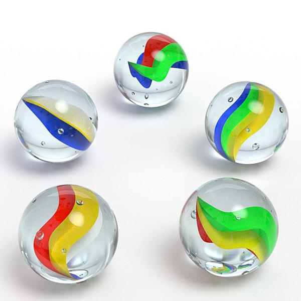 Marbles 3D Model Obj 3ds Fbx Blend