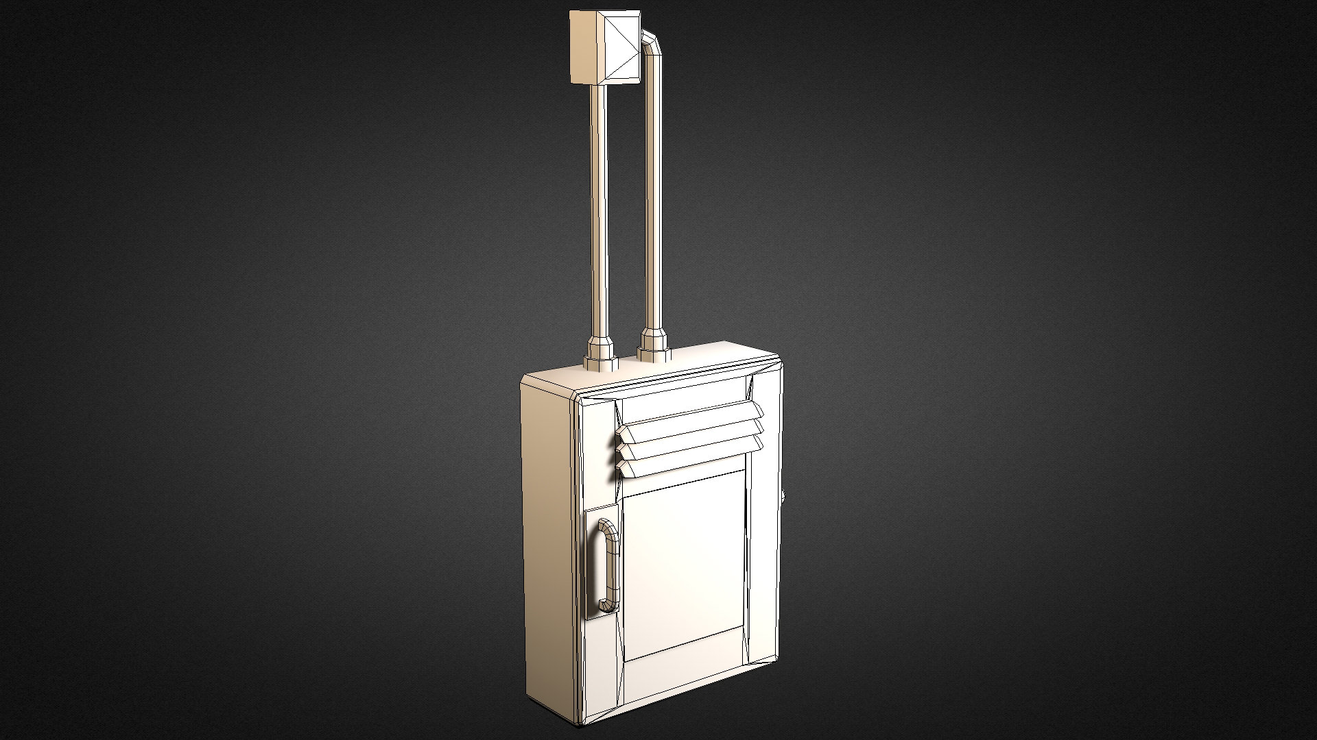 electric fuse box 01 3d model game ready max obj 3ds. Black Bedroom Furniture Sets. Home Design Ideas
