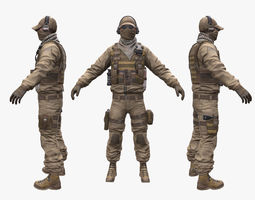 Soldier Assault 3D model