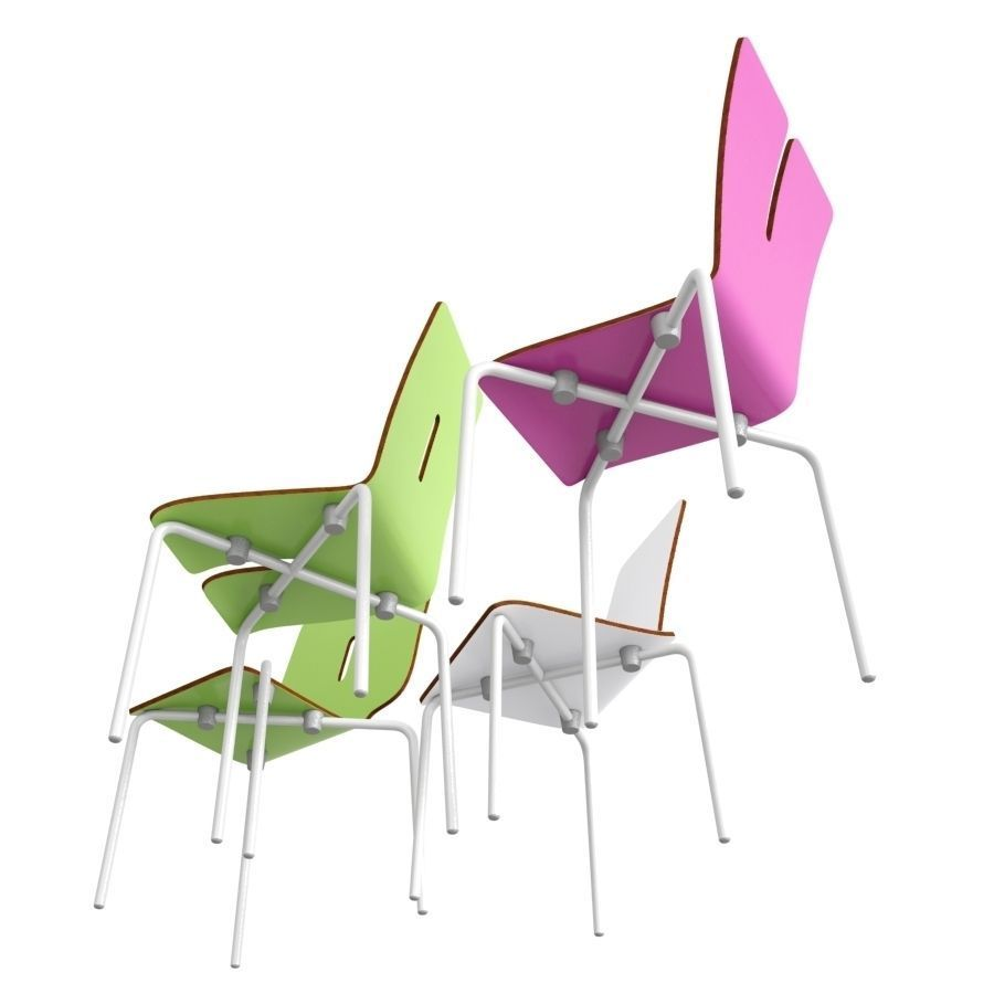 ... Tabisso Kids Chairs 3d Model Max Obj Fbx Dxf Mtl 2 ...