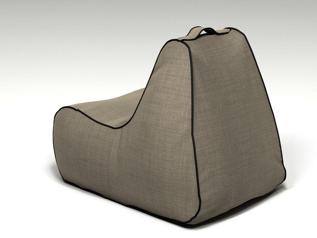 Bean Bag Lujo 3d Model Obj Fbx C4d Cgtrader Com