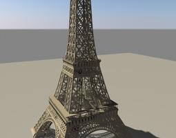 3D landmarks Eiffel tower