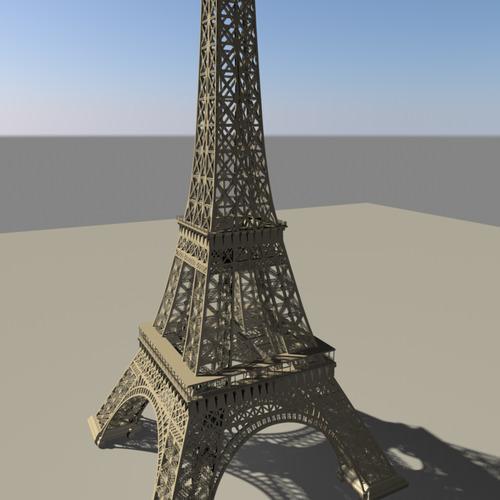 Eiffel tower3D model