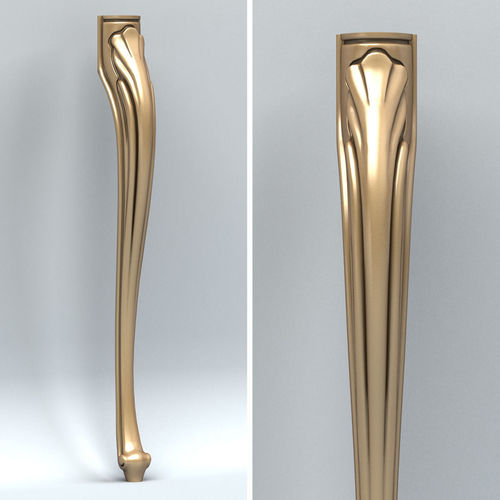 furniture leg 001 3d model max obj fbx stl 1