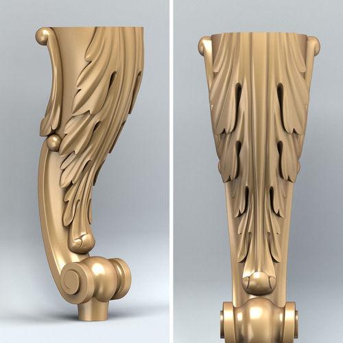 furniture leg 002 3d model max obj fbx stl 1
