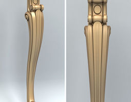 3D Furniture leg 004