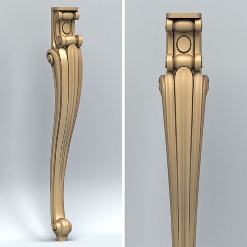 furniture leg 004 3d model max obj fbx stl 1