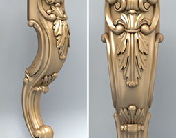 Furniture leg 005 3D