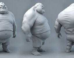 3d print model fat dude jack