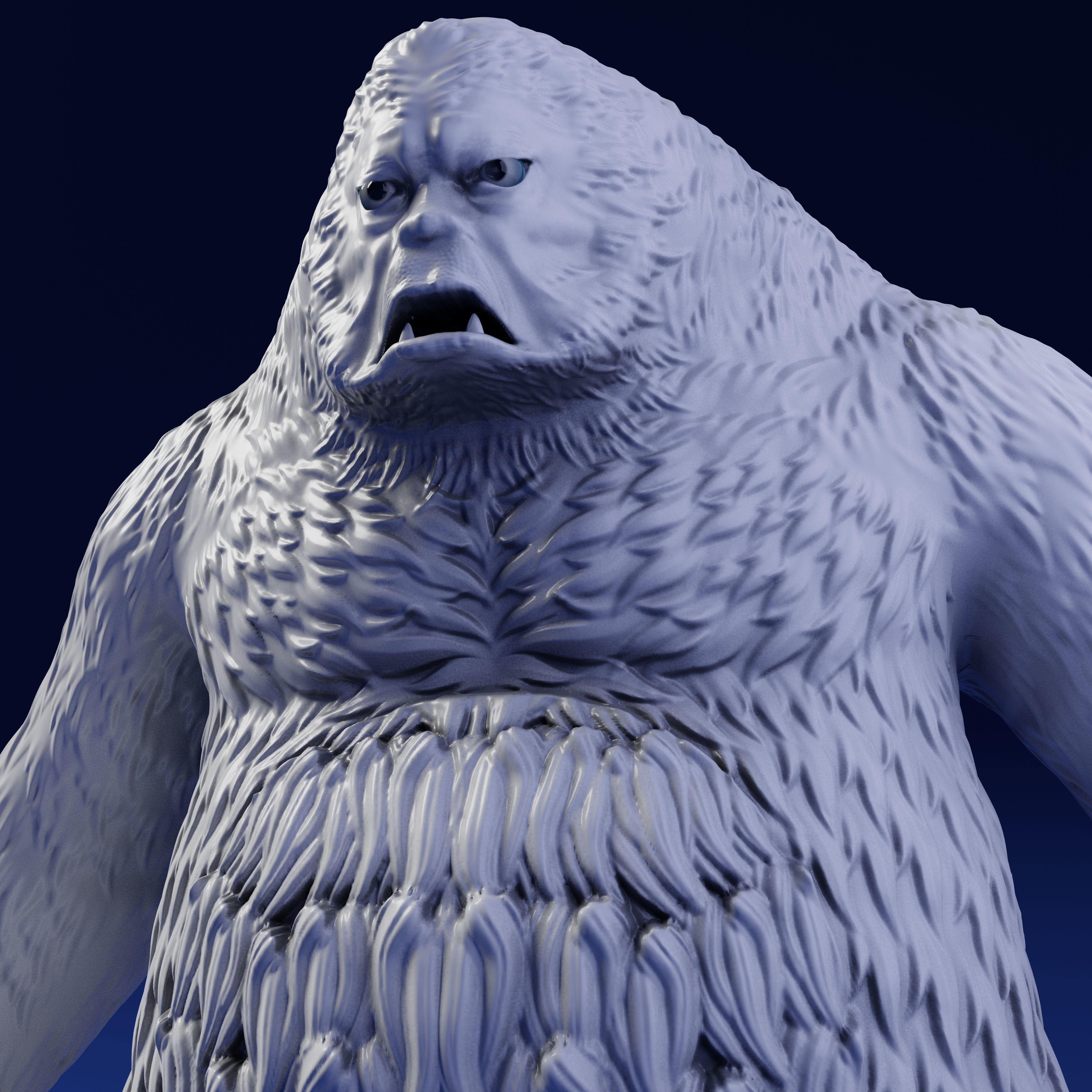 Bigfoot 3D Print Model