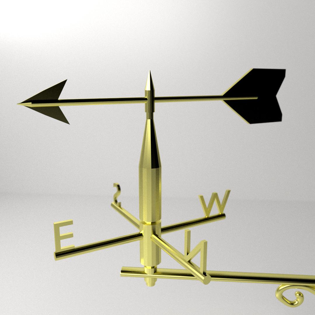 Wind vane 3d model 3ds fbx blend dae cgtrader com