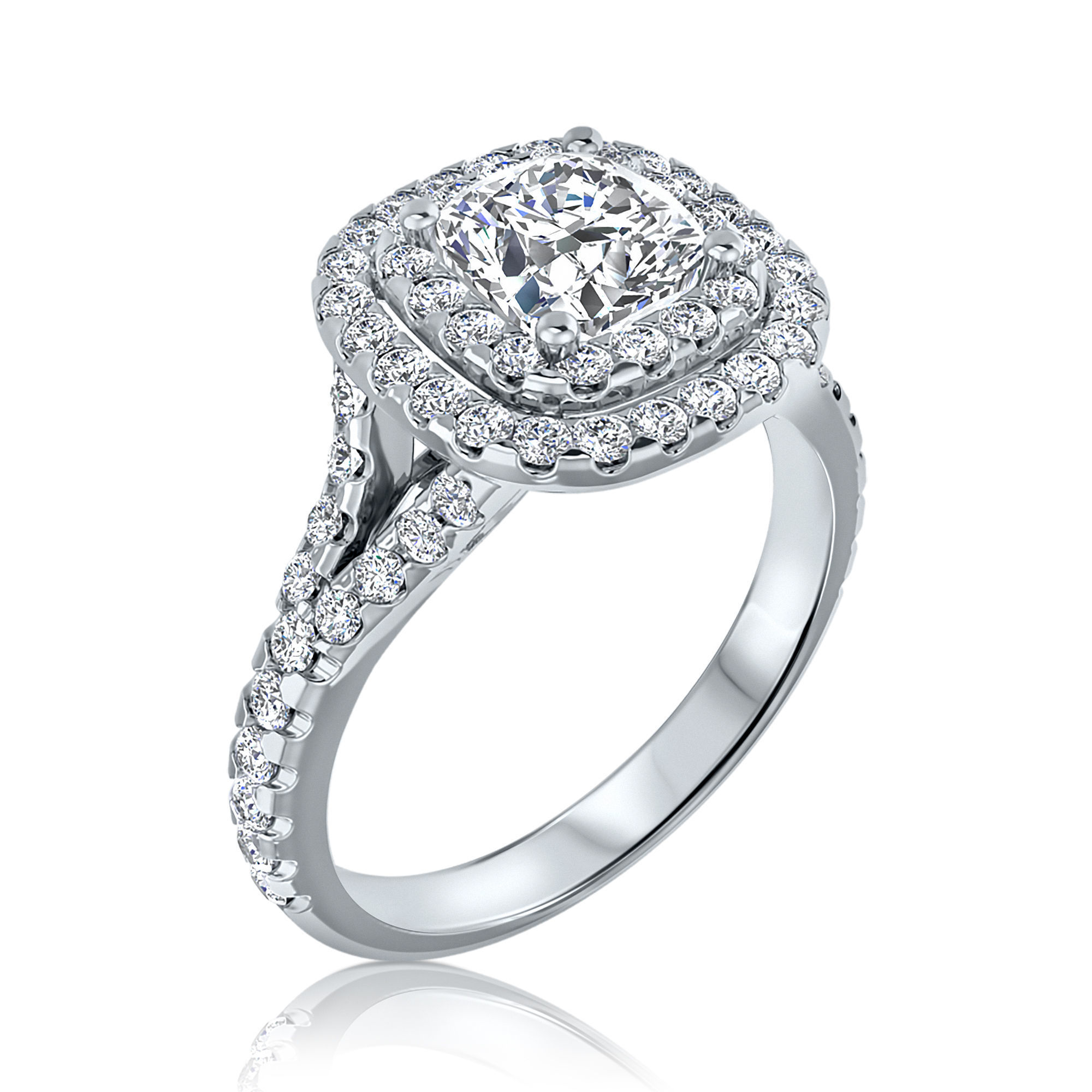 ENGAGEMENT RING 2 ROWS