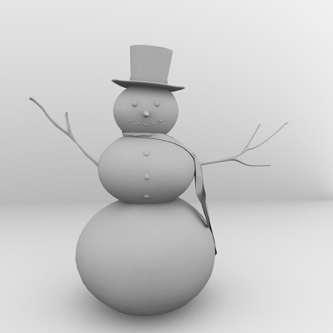 Snowman 3D model   CGTrader