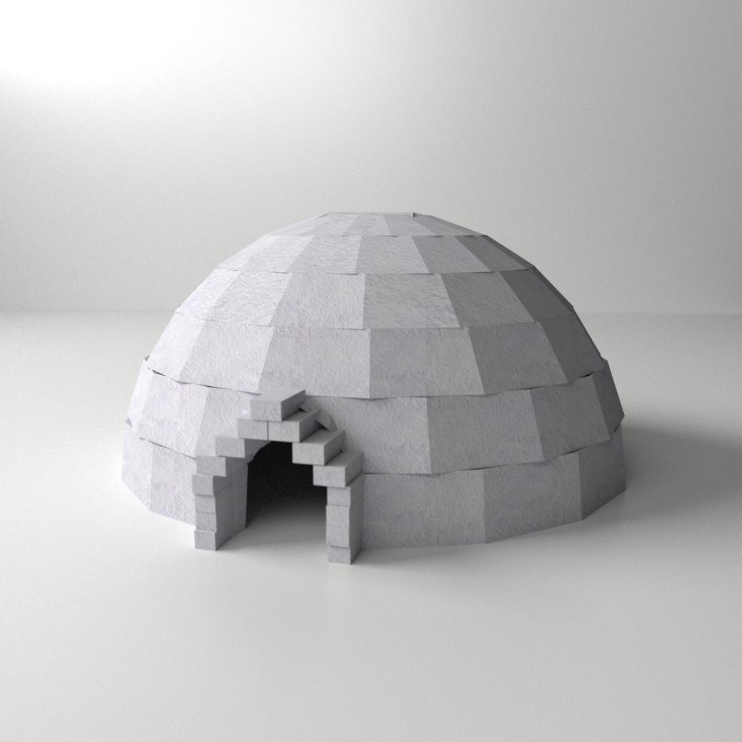 3d model igloo cgtrader