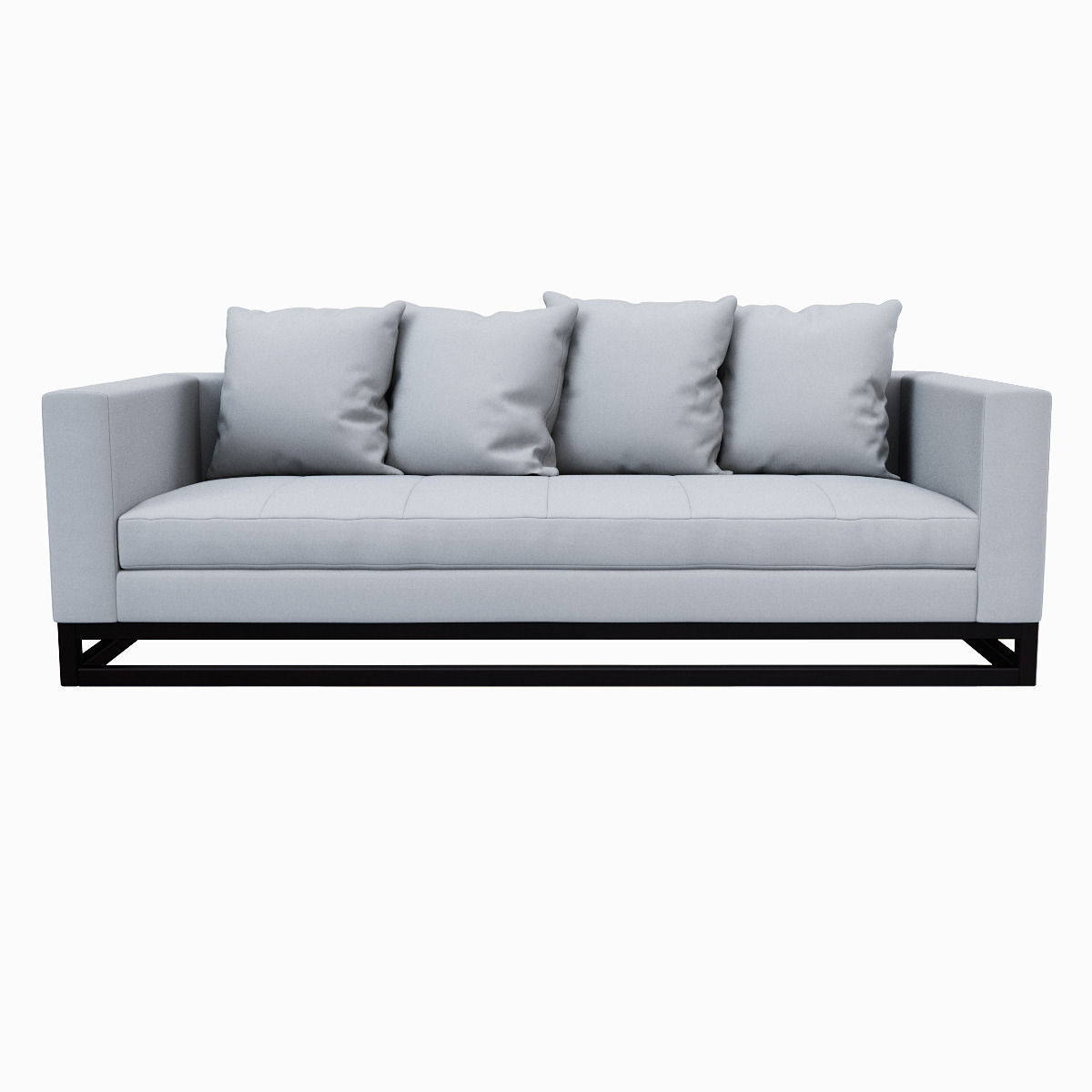 3D West Elm TossBack DownFilled Sofa CGTrader