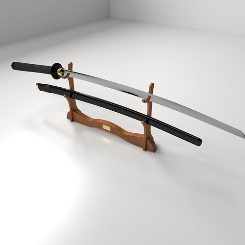 3d Model Katana Cgtrader