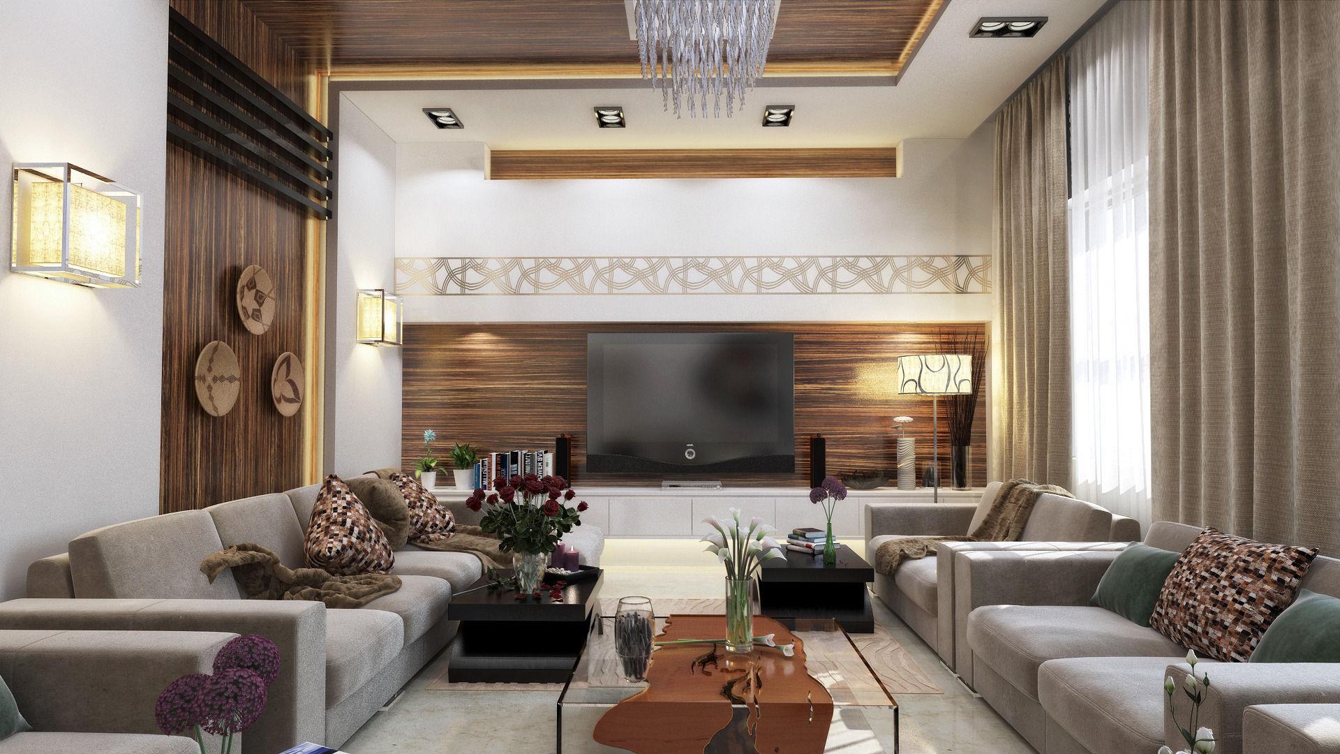 3D Modern L shape living room | CGTrader
