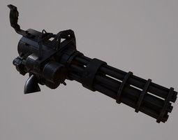 minigun m626 3d asset low-poly