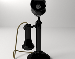 3D Old Telephone
