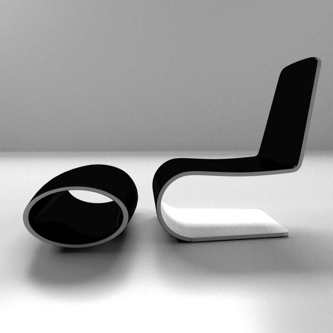 ... Modern Chair 3d Model 3ds Fbx Blend Dae 3 ...